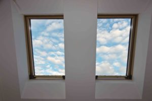 sky, clouds, roof window